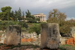 Temple of Hephaestus in Ancient Agora of Athens. Greece Royalty Free Stock Photography