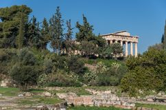 Temple of Hephaestus in Ancient Agora, Athens. Greece Stock Image