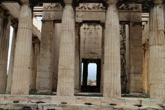 Temple of Hephaestus in Ancient Agora of Athens. Greece Stock Images