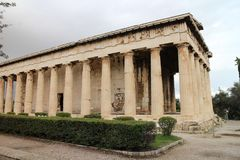 Temple of Hephaestus in Ancient Agora of Athens. Greece Stock Image