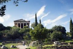 Temple of Hephaestus Stock Photography