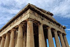 Temple of Hephaestus in Ancient Agora, Athens Royalty Free Stock Photography