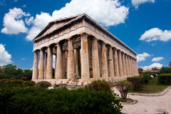 Temple of Hephaestus in Ancient Agora Royalty Free Stock Images