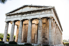 Temple of Hephaestus in Ancient Agora, Athens Royalty Free Stock Images