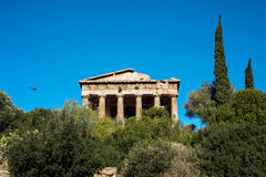 Temple of Hephaestus in Ancient Agora, Athens Royalty Free Stock Photo