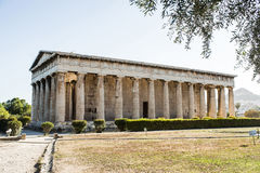 Temple of Hephaestus in Ancient Agora, Athens Royalty Free Stock Photos