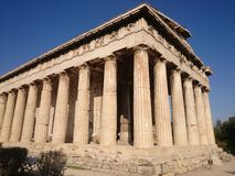 Temple of Hephaestus. In Ancient Agora of Athens, Greece Stock Photo