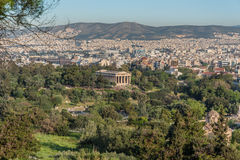 Temple of Hephaestus in the ancient agora in Athens, Greece Stock Photo