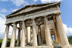 Temple of Hephaestus. The Temple of Hephaestus at the Ancient Agora of Athens, Greece Royalty Free Stock Image