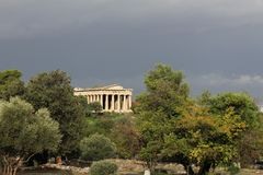 Temple of Hephaestus in Ancient Agora of Athens. Greece Stock Photo