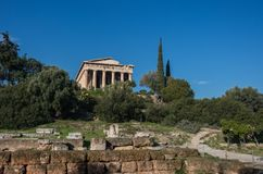 Temple of Hephaestus in Ancient Agora, Athens. Greece Stock Photo