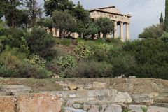 Temple of Hephaestus in Ancient Agora of Athens. Greece Stock Photography