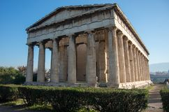 Temple of Hephaestus in Ancient Agora, Athens. Greece Royalty Free Stock Photos