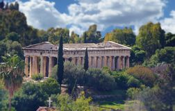 Temple of Hephaestus. The Temple of Hephaestus, an ancient Greek landmark, as it still stands today in Athens, Greece Royalty Free Stock Photos