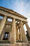 The Temple of Hephaestus in ancient market agora under the rock of Acropolis, Athens. Stock Photos