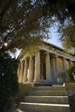 Temple of Hephaestus in Athens. View of the temple of Hephaestus in the ancient agora of Athens Royalty Free Stock Photos
