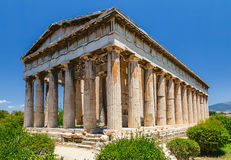 Temple of Hephaestus in Athens Stock Photos