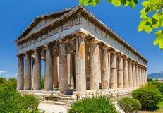 Temple of Hephaestus in Athens Stock Photos