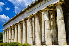 Columns of Temple of Hephaestus Royalty Free Stock Photo