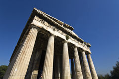 Temple of Hephaestus at Athens, Greece Royalty Free Stock Images