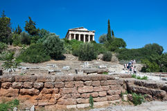 The Temple of Hephaestus in Athens, Greece. Royalty Free Stock Photography