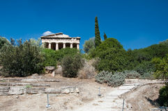 The Temple of Hephaestus in Athens, Greece. Royalty Free Stock Photo