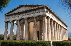Temple of Hephaestus in Athens/Greece. The beautiful temple of Hephaestus in Athens/Greece Stock Photography