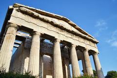 The temple of Hephaestus in Athens Greece Royalty Free Stock Images
