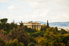 Temple of Hephaestus in Athens Royalty Free Stock Photo