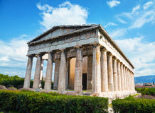 Temple of Hephaestus in Athens Royalty Free Stock Photos