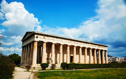 Temple of Hephaestus in Athens Stock Images