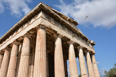 Temple of Hephaestus in Athens. The perfection of ancient greek architecture Royalty Free Stock Photo