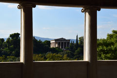 Temple of hephaestus columns Royalty Free Stock Images