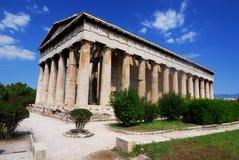 Temple (Hephaestus) de Hephaistos, Athen en Grèce Images libres de droits
