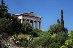 The temple of Hephaestus in Greece Royalty Free Stock Photos