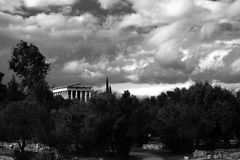 Temple of Hephaestus. Royalty Free Stock Images