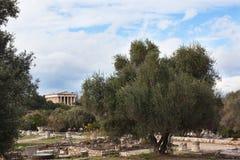 Temple of Hephaestus. Royalty Free Stock Photos