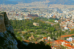 The Temple of Hephaestus or Hephaisteion in Athens, Greece. Royalty Free Stock Photo