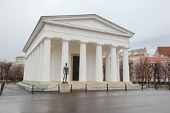 Temple of Hephaestus with statue in Vienna Royalty Free Stock Photos