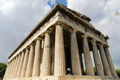 Temple of Hephaestus. The Temple of Hephaestus at the Ancient Agora of Athens, Greece Royalty Free Stock Photos
