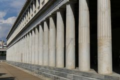 Temple of Hephaestus. The Temple of Hephaestus at the Ancient Agora of Athens, Greece Stock Photos
