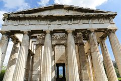 Temple of Hephaestus. The Temple of Hephaestus at the Ancient Agora of Athens, Greece Stock Images