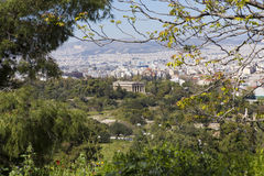 Temple of Hephaestus. View from Acropolis in Athens, Greece Stock Images