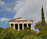 Temple of hephaistos Stock Images