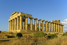 Temple of Hera. In Selinunte Greek colony in Sicily royalty free stock photo