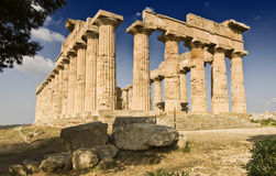 Temple of Hera. View of the temple of Hera in Selinunte, Sicily. It is one of the largest Greek temple in Italy Stock Image