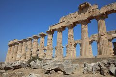 The Temple of Hera Temple E at Selinunte. Sicily Stock Image