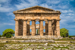 Temple of Hera at famous Paestum Archaeological Site, Campania, Italy Royalty Free Stock Photography