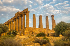 Temple of Hera. Or Juno in Agrigento Sicily Royalty Free Stock Photography