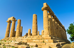 Temple of Hera, Juno, Lacinia at Agrigento Valley of the Temple, Sicily Stock Photo
